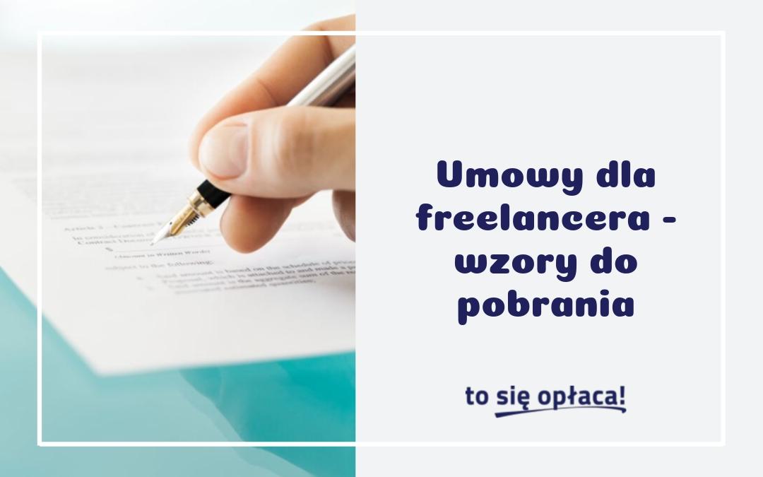Umowy dla freelancera – wzory do pobrania